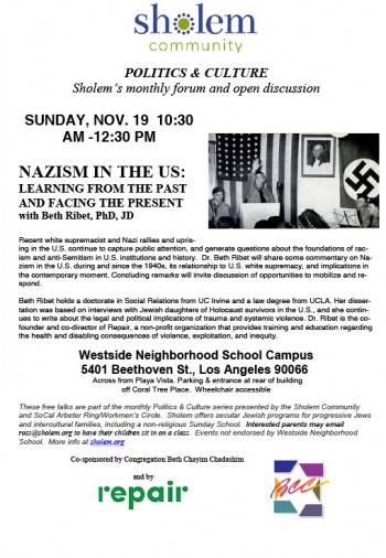 Nazism in the US: Learning from the Past and Facing the Present | Repair