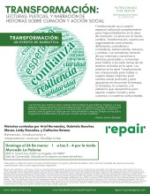 transformation event flyer in Spanish